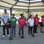 Agape Youth Choir entertains the audience at the Agape Block Party.