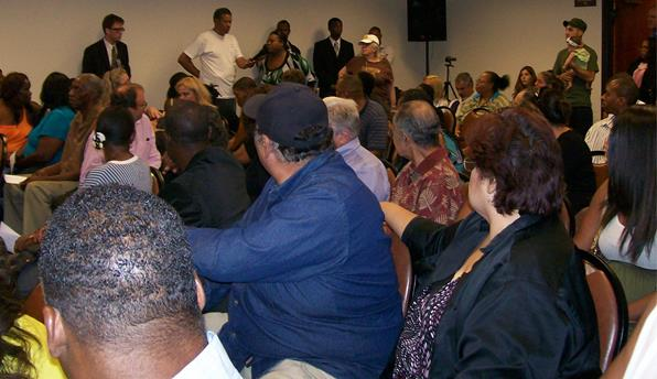 Nearly 100 attended the Section 8 Community Forum.