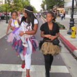 Piper Guy held her young daughter Kapri as she walked with her elder daugher, Sydney, down The BLVD.