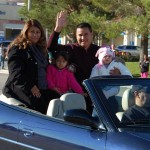 Parade Grand Marshal Andrew Ramirez and his family.