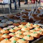 A variety of cupcakes and pies were available.