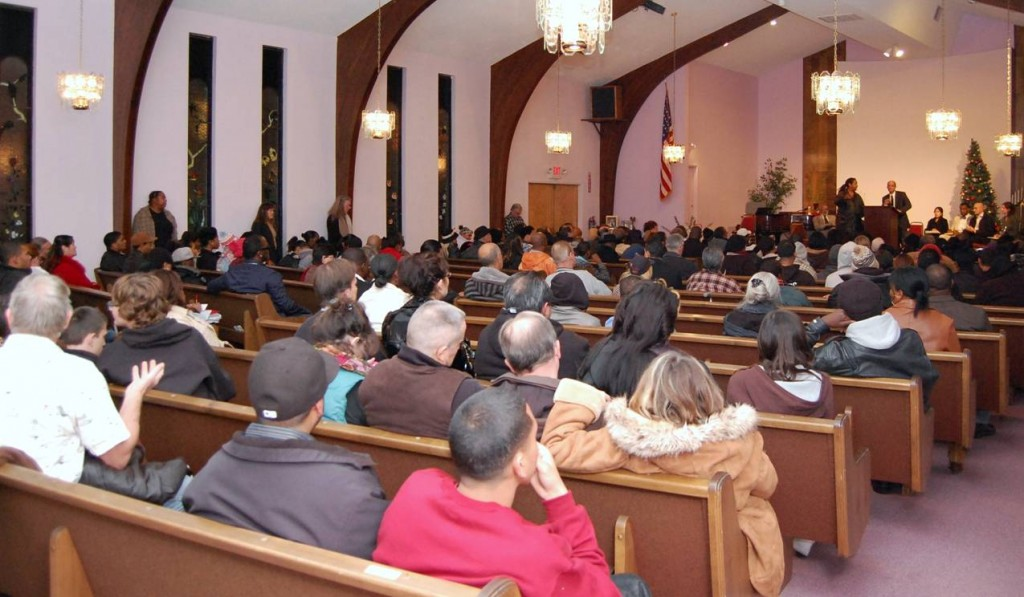Residents packed the Center of Light Church in Lancaster in Dec. 2011 for a chance to speak with DOJ attorneys and investigators.