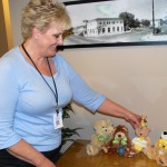 Palmdale's Kathy Inman displays some of the Bears of Hope which helped raise $980 in the fight against cancer.