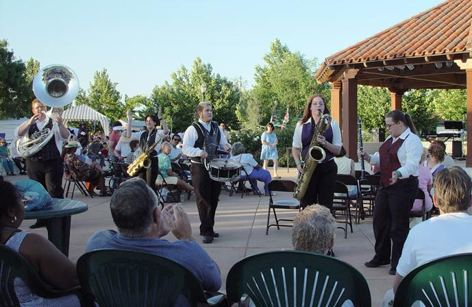 Families can enjoy live music until 8:30 p.m.