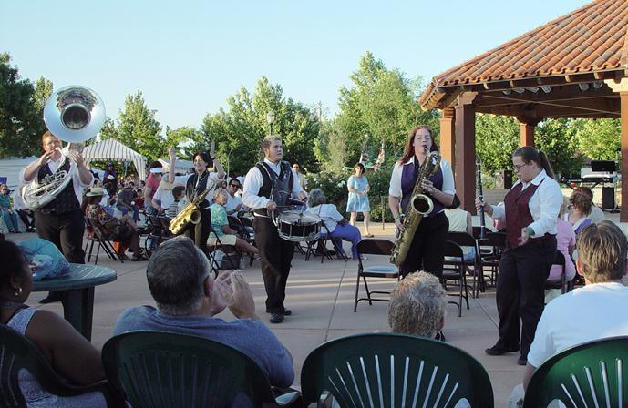 Families can enjoy live music until 8:30 p.m.
