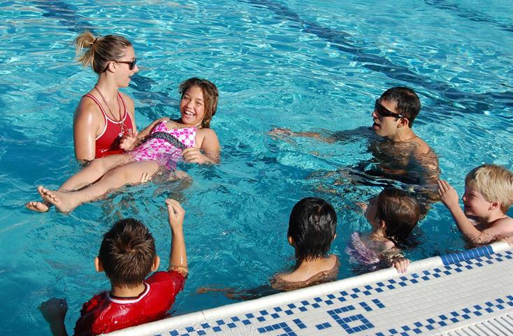Residents take part in a past WLSL event at the Marie Kerr Park pool. The event aims to encourage more people to swim safely.