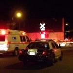 The incident happened around 11:45 p.m. Tuesday on the train tracks near Sierra Highway and Palmdale Boulevard.