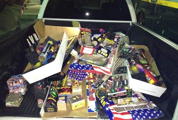 More than 300 pounds of illegal fireworks were seized in Palmdale on July 4, 2012. (Photo courtesy: LASD)