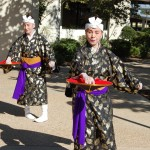 Yoko Kono and Candy Beckett perform an Okinawa Classical Dance Tuesday at a press conference at Lancaster City Hall to preview the 18th Annual Antelope Valley International Heritage Festival.