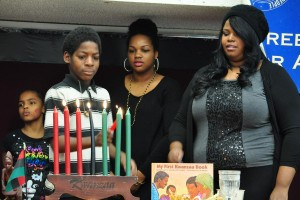 Both celebrations will feature the lighting of the Kwanzaa Kinara.