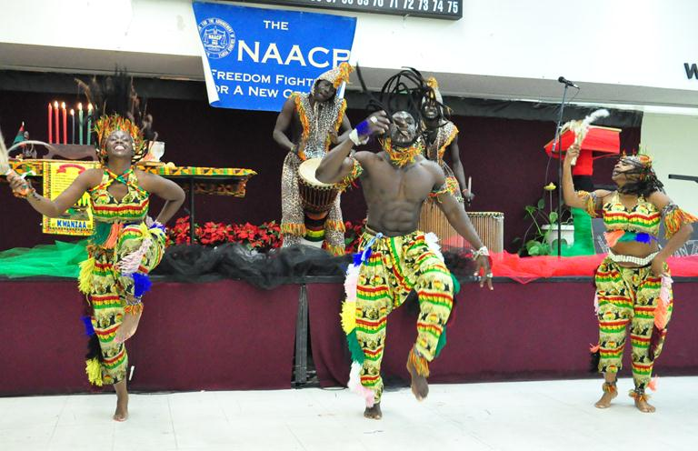The Niancho Eniyaley African Performers last year at the NAACP's annual Kwanzaa celebration. This years event takes place Sunday, Dec. 29.