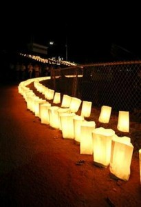 "A luminary display titled ""A Thousand Lights, One Spirit."" begins at 4 p.m. with the luminaries being lit at 4:45 p.m."