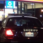 The victim speaks with deputies on Feb. 11 evening after being carjacked at knifepoint by Dillon McCloud. (Photo by LUIS MEZA)