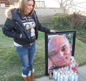 Clemmie Graves, shown here at a memorial for the one-year anniversary of her son's death, will testify at the trial.