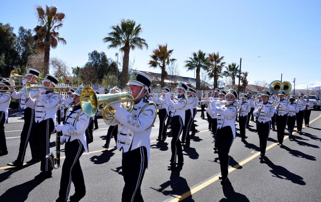 The Quartz Hill High School Marching Band is just one of about five dozen groups that will be participating in the 65th Almond Blossom Festival Parade on Saturday, March 8.