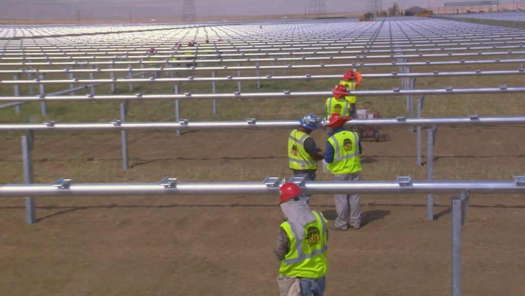 Approximately 650 jobs are being created during the construction phase of the 579-megawatt Antelope Valley Solar Projects, the world's largest solar power development under construction, according to company officials.