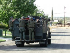 Based on the violent nature of Perez's crimes, a Special Weapons Team was called in sheriff's officials said. (LUIS MEZA)