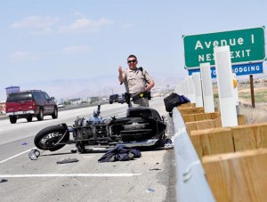 Motorcyle crash 14 fwy 2