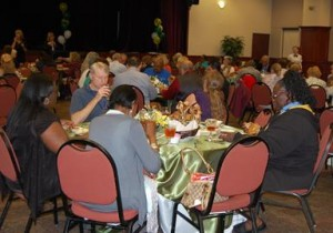About 100 City volunteers attended the appreciation luncheon.