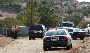 The shooting happened a little before 2 p.m., May 15, 2013 in the 1500 block of Eagle Butte Road in Acton.(Photos by LUIS MEZA)
