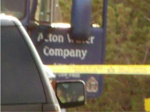 Sources at the scene said the victim was the owner of the Acton Water Company.