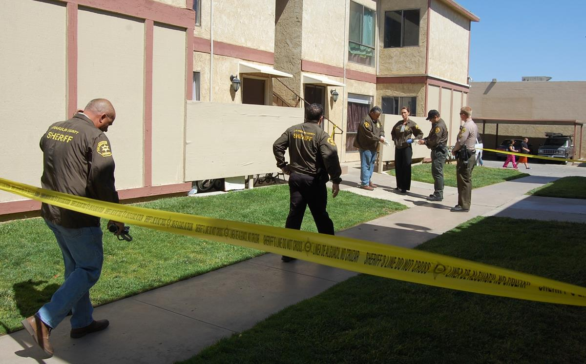 Special Victim's Detectives searched the apartment in the 200 Block of East Avenue Q-10 where an 8-year-old boy lived with his mother and her boyfriend. The boy was hospitalized with critical injuries Wednesday night, and detectives suspect child abuse.