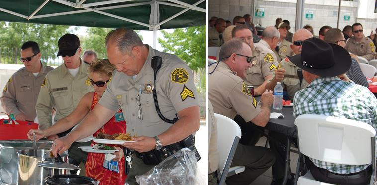 The annual Fallen Heroes BBQ was held at Lancaster Sheriff's Station Thursday afternoon to honor and remember those deputies killed locally in the line of duty.