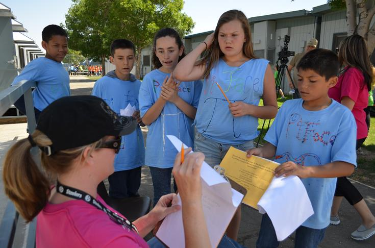 Rancho Vista Elementary's annual 'Gladiator Games' culminated last Friday with a math-based 'Survivor' challenge and a language arts-based 'Amazing Race'.