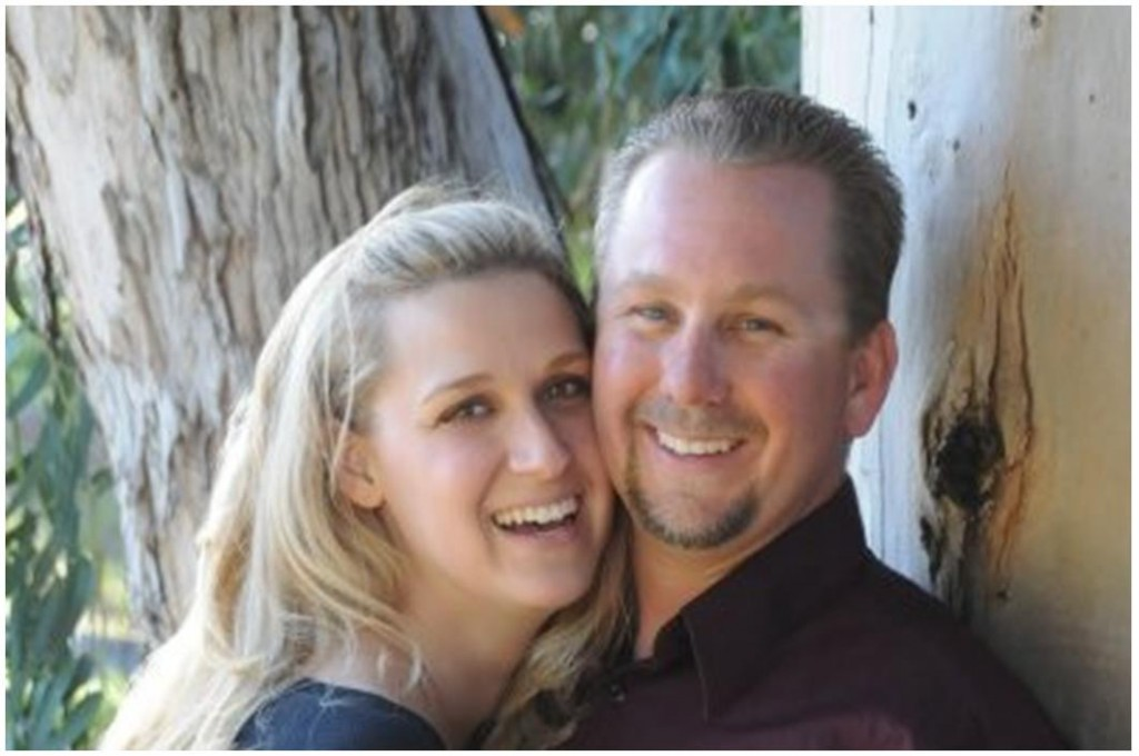 "Demyen with wife, Amber, as pictured on a memorial website titled ""Honoring Chris Demyen."" View the site here."