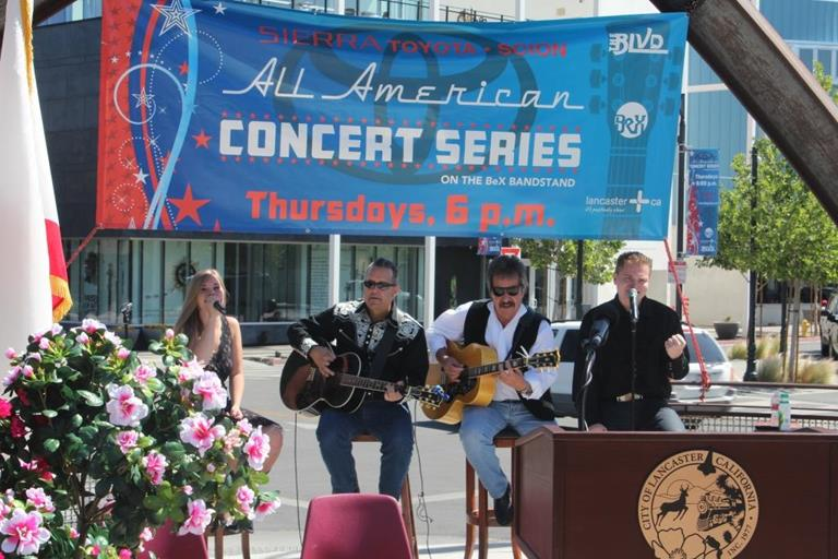 Jacob Nelson and the Tone Wranglers performed at a recent press conference to announce the 2013 Concert Series lineup. The group will be performing on August 8, 2013.