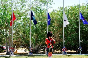 Bagpiper Christopher Parke will perform at the Lancaster ceremony focusing on WWI veterans.