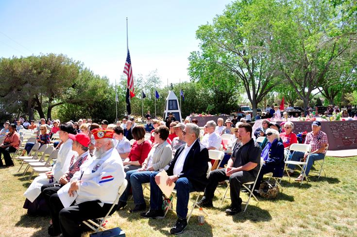 More than 100 residents attended the ceremony.