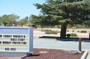 """Our Shepherd Evangelical Lutheran Church has opted for low water use landscaping, yet the church's water bill is still """"off the charts""""."""
