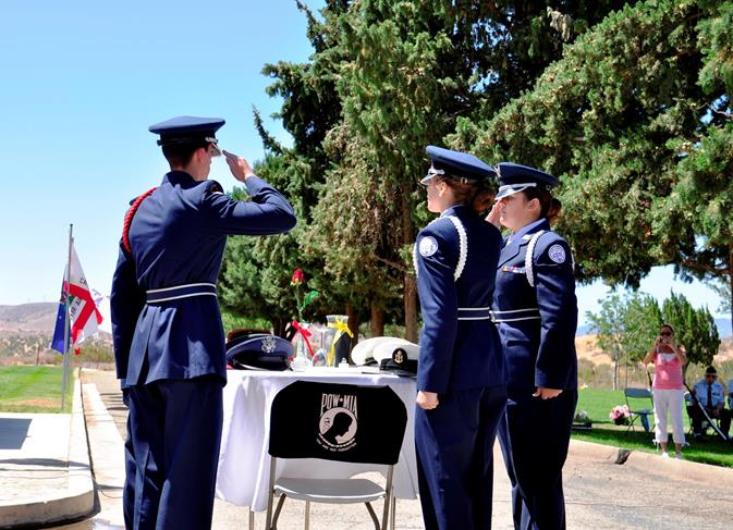 Highland High School Air Force JROTC also performed the Table of Honor Ceremony.