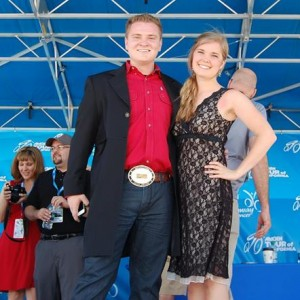 Jacob Nelson and Molly Wineland sang a stirring rendition of the National Anthem.