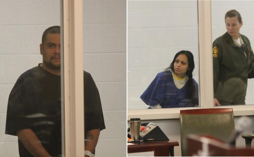 Isauro Aguirre and Pearl Fernandez appeared in court Tuesday (May 28) on capital murder charges in the death of Fernandez's 8-year-old son Gabriel.