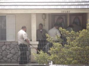 While executing a warrant, deputies also found a marijuana grow.