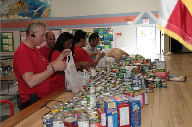 Organizers are asking for your help in reaching its goal to donate 10,000 pounds of food to distribute to local food banks as part of AV RED Day 2013. (Contributed photo)