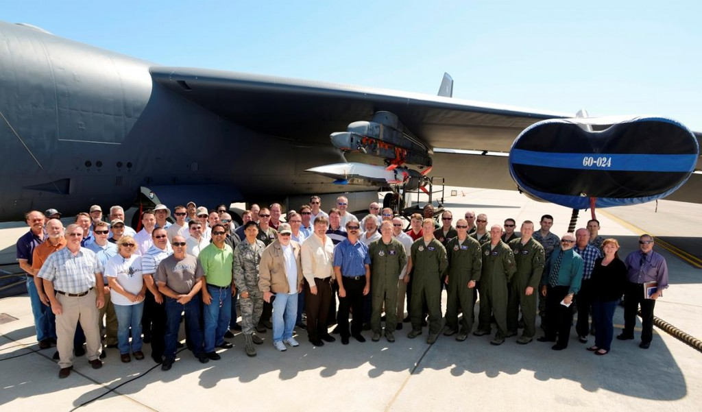 The test team gathered for a group photo before the fourth and final flight of the X-51A Waverider program. (U.S. Air Force Photo by Ethan Wagner)