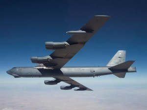 The X-51A Waverider, attached to the wing of a B-52H, flew its fourth and final mission May 1. (U.S. Air Force Photo by Bobbi Zapka)