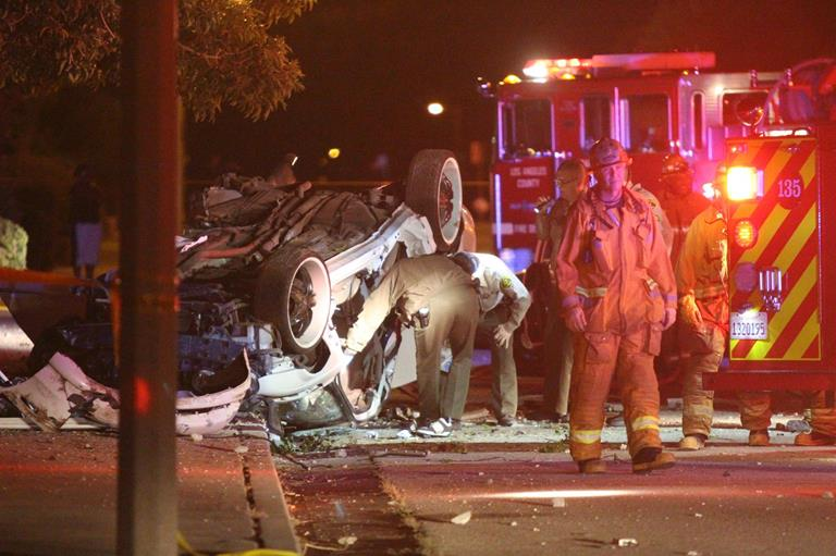 The fatal crash happened early Sunday morning on East Avenue I near 35th Street East. (Photos by TONY CHEVAL)