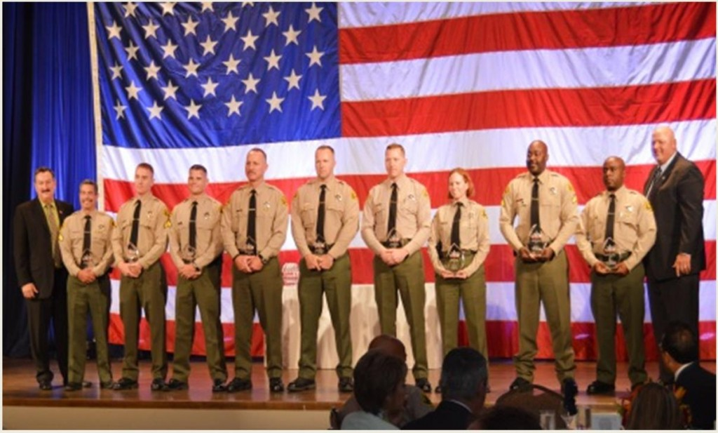 Lancaster Station's Burglary Suppression Team members were recognized at the 13th annual awards banquet hosted by the Association for Los Angeles Deputy Sheriffs (ALADS). (Courtesy LASD)