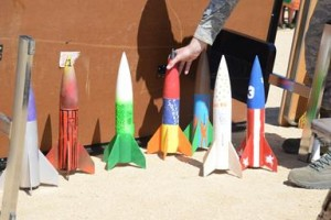 Teams of 4th, 5th and 6th graders built rockets for the 1st Annual Edwards Intermediate Space Challenge.