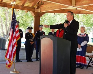 The flag represents unity in our community, said Palmdale Mayor Jim Ledford.