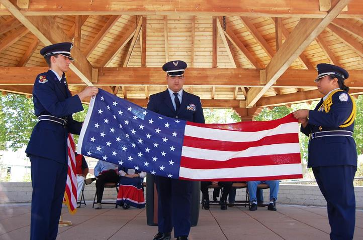 Highland High School Air Force JROTC conducted a Folding of the Flag ceremony.
