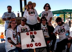 Project Awareness is urging local consumers to say no to genetically modified foods. (Photo courtesy: Daniel Jones, SMP Productions, Rosamond, CA)