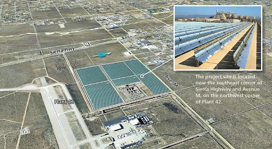 (Image concept of Palmdale Hybrid Power Plant, courtesy Inland Energy Inc.)