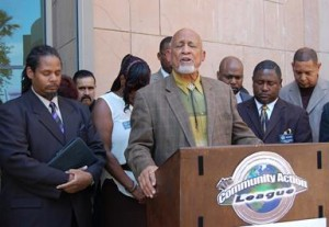 Lancaster Mayor Emeritus Henry Hearns opened the press conference with prayer for a better system.