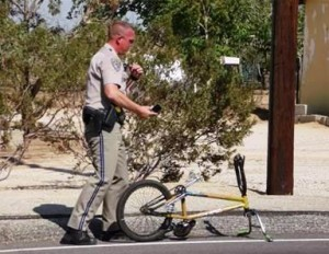 The boy was not wearing a bicycle helmet, officers said.
