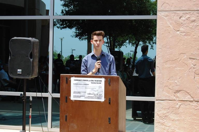 Sixteen-year-old Alexander Rodriguez, Community Director of the OUT Project, said he'd recently decided to become an equal rights activist for the rest of his life. He urged the crowd to trust one another, practice tolerance, and take comfort in knowing that human beings are naturally good.